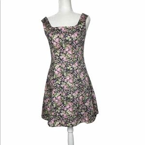 90's Laura Ashley Romantic Floral Fit Flare Dress